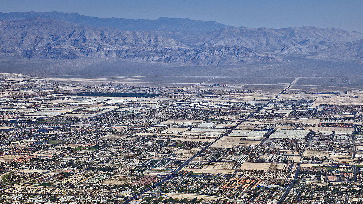 An aerial of the City of North Las Vegas