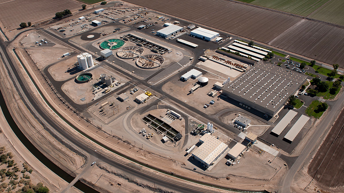 Aerial image of the Yuma Desalting Plant